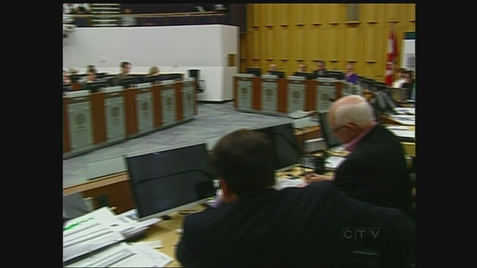 City councillors meet to discuss the budget in London, Ont. on Friday, Feb. 8, 2013.