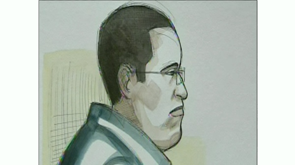 A courtroom sketch of Maor Attar