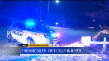 CTV Toronto: Snowmobiler critically injured