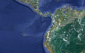 A map of Colombia is shown in this screen grab from Google Maps. (Google)