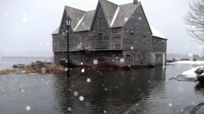Debbie Ryan-Burton sent in this photo of the historic barrel factory, flooded by a storm in Shelburne, N.S.
