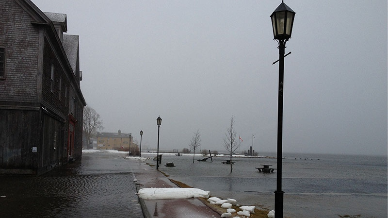 Garrett Williams sent in this photo of a flooded street in Shelburne, N.S.