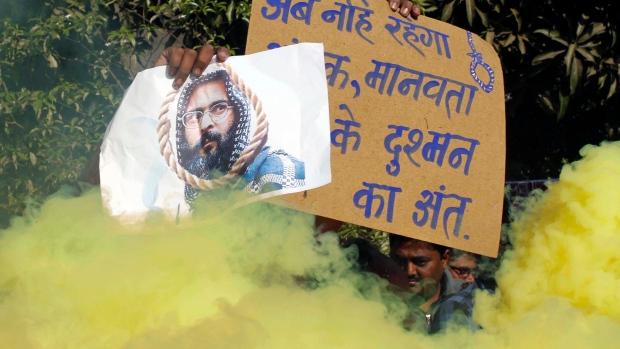 Indians celebrate execution of Kashmiri Mohammed