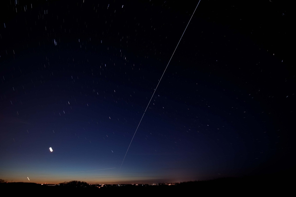 international space station from ground at night - photo #3