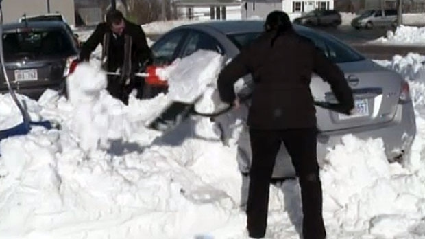 Cape Breton residents are digging out after a winter storm dumped upwards of 40 centimetres of snow in some areas.