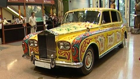 The John Lennon Rolls Royce is on display at the Royal BC Museum. Jan. 11, 2011. (CTV)