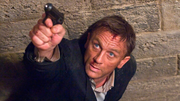 In this undated film publicity image released by Sony Pictures, Daniel Craig portrays James Bond in a scene from 'Quantum of Solace.' (AP Photo / Sony)