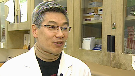 Dr. David Lau, president of Obesity Canada, explains results of the study on CTV News, Tuesday, Jan. 11, 2011.
