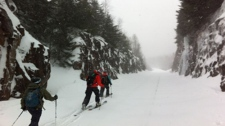 Backcountry skiers in Wentworth Valley, N.S.