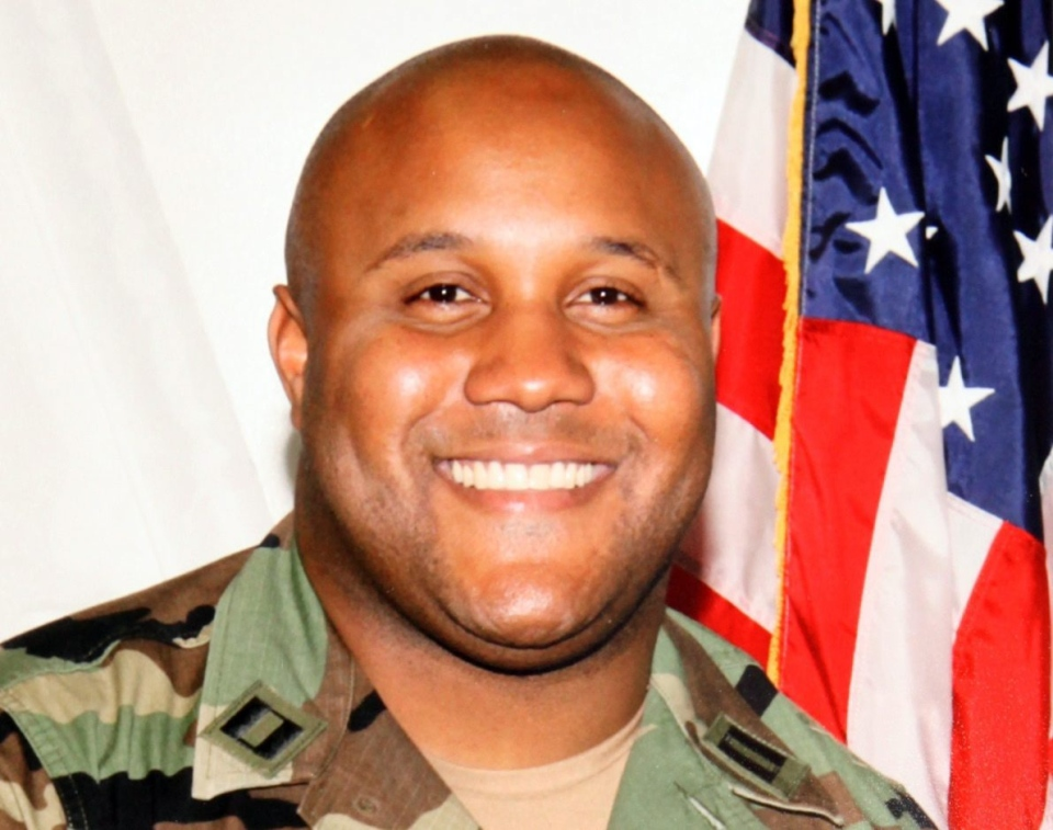 Christopher Dorner, a former Los Angeles officer, is seen in this image made available by the Los Angeles Police Department.