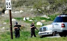 Police blockade ex cop FBI stand off