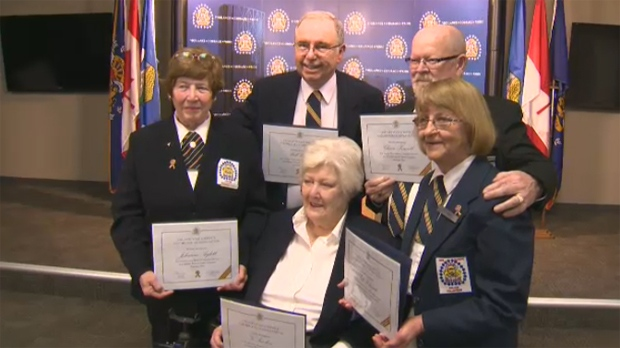 Five volunteers from the 1988 Calgary Olympic Winter Games were honoured by the CPS on Tuesday