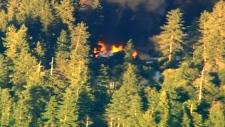 Cabin police go in fire flames smoke