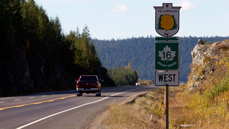 Highway 16 near Prince George, B.C. Monday, Oct. 8, 2012. (Jonathan Hayward / THE CANADIAN PRESS)