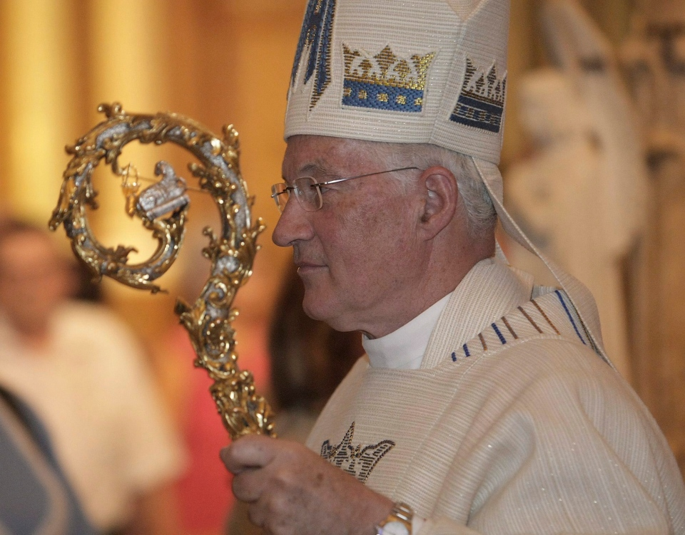 Cardinal Marc Ouellet arrives at his farewell Mass in Sainte-Anne-de-Beaupre Basilica in this 2010 file photo. (Francis Vachon / THE CANADIAN PRESS)