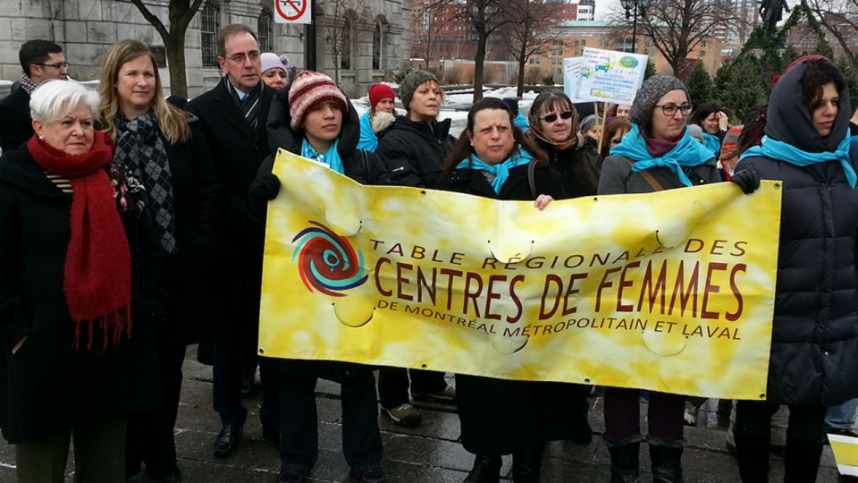 Vision Montreal leader Louise Harel and members of a regional women's group also said public transit prices were too high (Feb. 13, 2013)