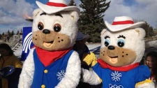 Olympic Mascots Howdy and Heidi