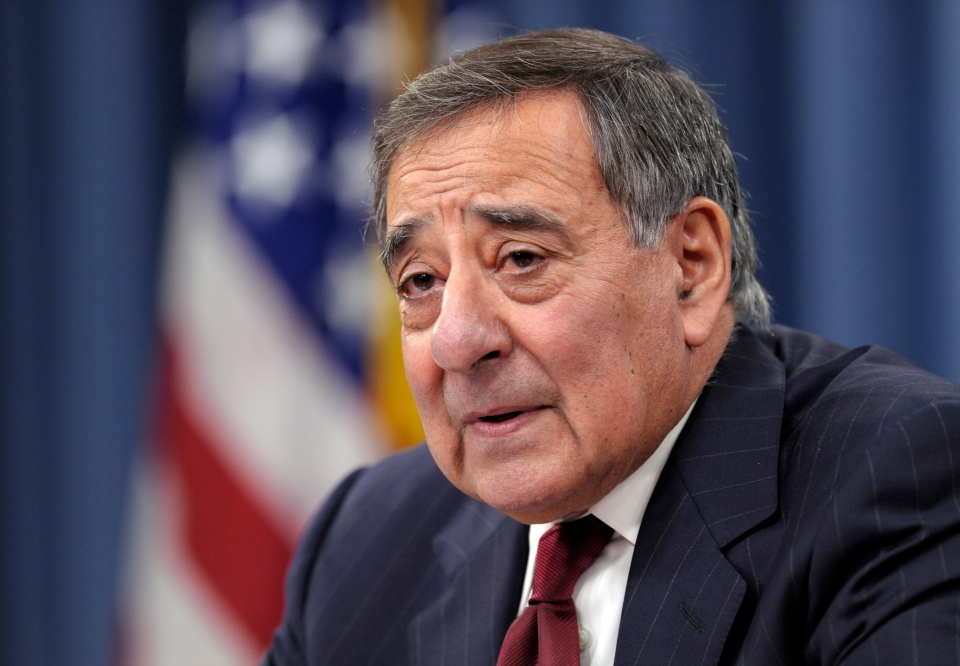 Outgoing Defense Secretary Leon Panetta speaks during his last news conference as defense secretary at the Pentagon, Wednesday, Feb. 13, 2013. (AP / Susan Walsh)