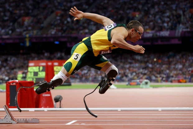 Oscar Pistorius at the 2012 Summer Olympics.