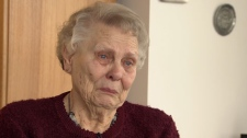Cancer survivor Elizabeth Strecker says she was humiliated by security workers at the Calgary airport. Jan. 13, 2011. (CTV)