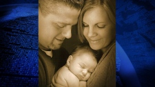 Sgt. Ryan Russell, his wife Christine, and his son Nolan are seen in this undated Facebook photo.