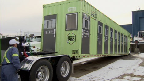 The Salvation Army in Chilliwack is trying out a shipping container that's been converted to a homeless shelter. Jan. 13, 2011. (CTV)