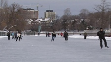Skaters enjoy the Rideau Canal Skateway during its opening week. The Skateway is currently open from Dow's Lake to the Pretoria Bridge.
