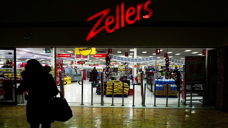 A woman makes her way into Zellers store in Toronto on Thursday, January 13, 2011. (Nathan Denette / THE CANADIAN PRESS)