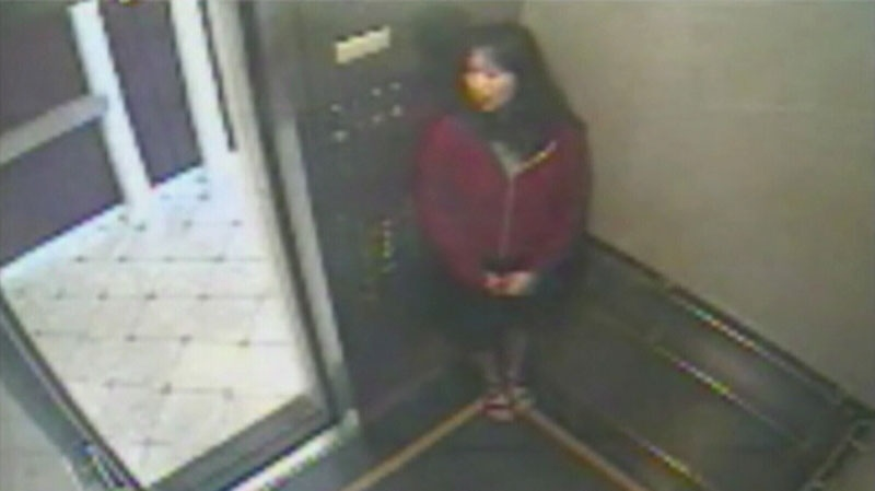 Police say Elisa Lam, 21, is pictured in this video the night before she went missing. (Handout)