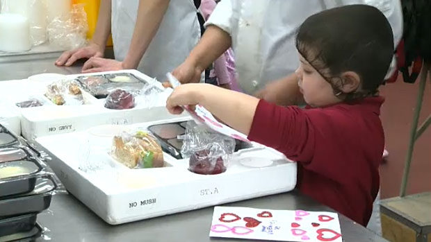 Local youth spread love prepare meals for edmonton for Valentine s day meals to cook together