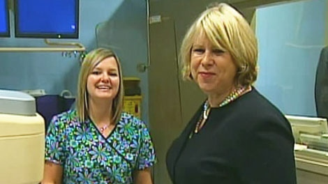 Health and Long-Term Care Minister Deb Matthews, right, visits Cambridge Memorial Hospital on Thursday, Jan. 13, 2011.