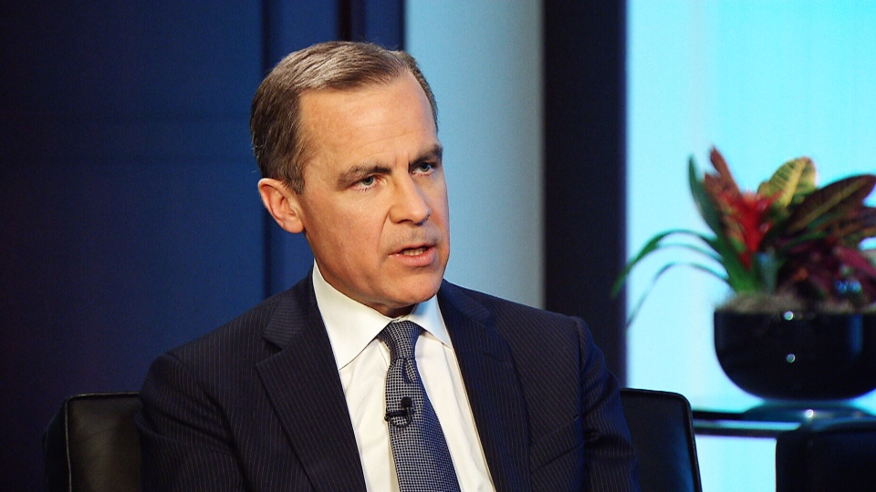 Outgoing Bank of Canada Governor Mark Carney is seen during an exclusive one-on-one interview with CTV's Question Period  host Kevin Newman.