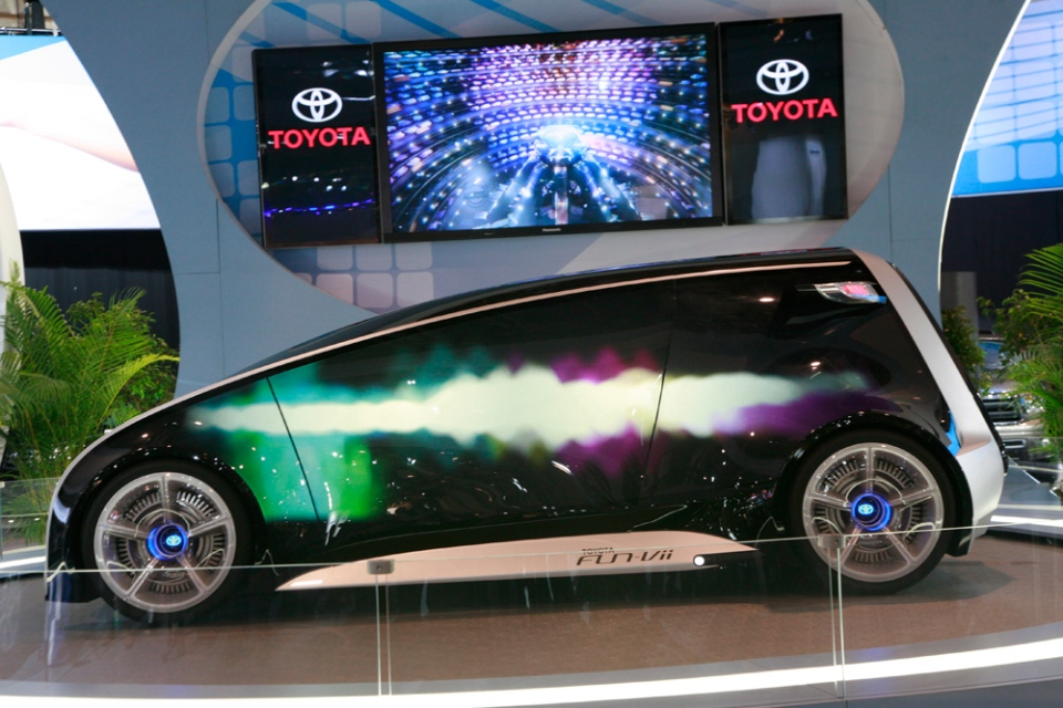 The Toyota Fun-Vii appears at the Canadian International Auto Show. (Bill Wang/CTVNews.ca)