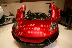 The McLaren 12C Spider appears at the Canadian International Auto Show. (Bill Wang/CTVNews.ca)