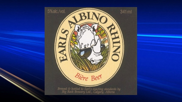 Former Albino Rhino beer label