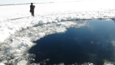 Meteor crashes into Russian lake