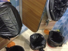 Carnival Triumph buckets for sanitary waste