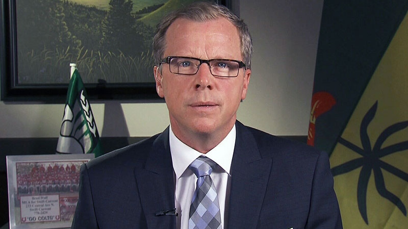 Saskatchewan Premier Brad Wall appears on CTV's Question Period on Feb. 17, 2013.