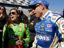 Mark Martin and Danica Patrick at Daytona 500