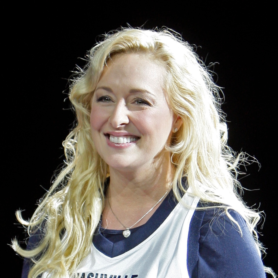 Mindy McCready performs in Nashville, Tenn., Nov. 14, 2008. McCready, who hit the top of the country charts before personal problems sidetracked her career, died Sunday, Feb. 17, 2013. She was 37. (AP / Mark Humphrey)