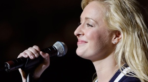 Country singer Mindy McCready performs in Nashville, Tenn. (AP / Mark Humphrey)