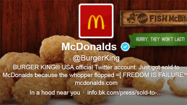 Burger King Twitter hacked Anon