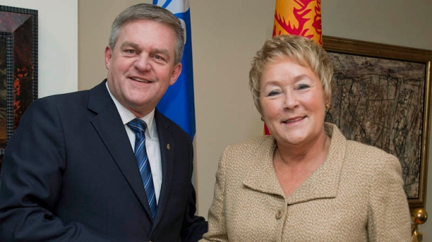 Marois, Alward meet to discuss oil pipelines