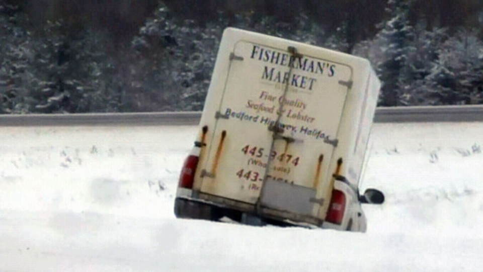 The winter storm caused dangerous driving conditions in Nova Scotia on Monday, Feb. 18, 2013.