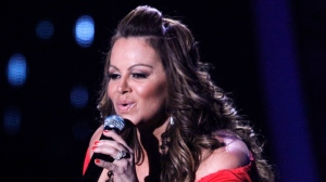 In this April 26, 2012 file photo, singing superstar Jenni Rivera performs during the Latin Billboard Awards in Coral Gables, Fla. (AP / Lynne Sladky, File)