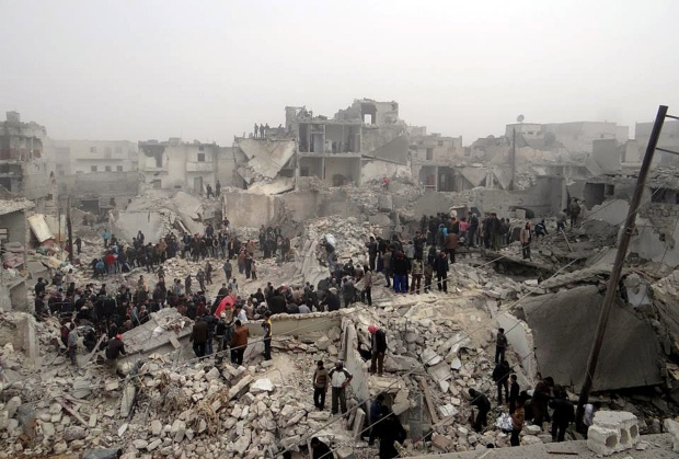 Jabal Bedro neighbourhood, Aleppo, Syria, Feb. 19.