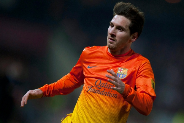 Lionel Messi in action, Feb. 16, 2013.
