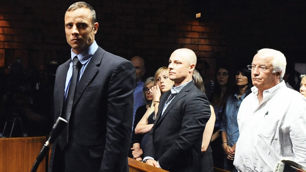 Oscar Pistorius charged with pre-meditated murder