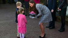 Duchess of Cambridge shows baby bump