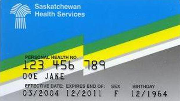 Saskatchewan health card